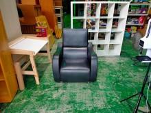 [8成新] 合運二手傢俱~可移動式單人皮沙發單人沙發有輕微破損
