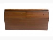 [7成新及以下] A71902*木紋雙人5尺床頭櫃床頭櫃有明顯破損