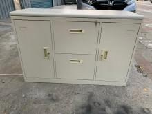 [9成新] 大慶二手家具 四尺兩抽拉門鐵櫃辦公櫥櫃無破損有使用痕跡