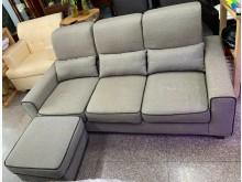 [95成新] 二手.咖啡灰三人座+扶腳椅L型沙發近乎全新