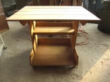 [9成新] 實木活動電腦桌電腦桌/椅無破損有使用痕跡