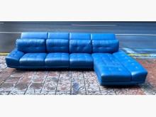[9成新] 三合二手物流(高級牛皮沙發組)L型沙發無破損有使用痕跡