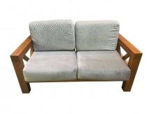 [9成新] TK0722 柚木二人座木沙發木製沙發無破損有使用痕跡