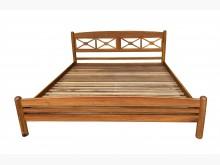 [9成新] B80402*實木柚木雙人加大床雙人床架無破損有使用痕跡