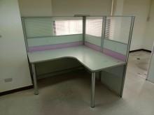 [95成新] L型屏風含桌H03878 快樂福辦公櫥櫃近乎全新