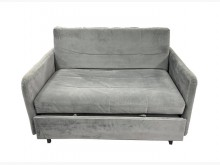 [9成新] A81912*灰色布沙發床雙人沙發無破損有使用痕跡