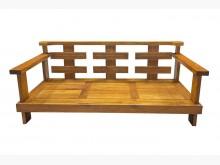 [9成新] TK81919*柚木三人座沙發木製沙發無破損有使用痕跡
