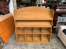 [8成新] 橡木實木4尺 開放式書報櫃書櫃/書架有輕微破損