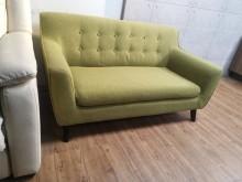 [9成新] 九成新小資資最愛蘋果綠雙人布沙發雙人沙發無破損有使用痕跡