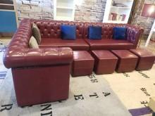[9成新] 豪宅釋出拉扣三件式沙發組(含豆腐多件沙發組無破損有使用痕跡