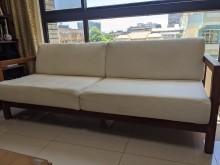 [8成新] 二手 詩肯柚木沙發 三件組木製沙發有輕微破損