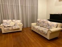 [9成新] 歐式布沙發多件沙發組無破損有使用痕跡