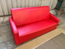 [9成新] 透氣皮三人沙發組雙人沙發無破損有使用痕跡