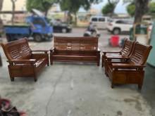 [9成新] 全實木1+1+2+3沙發組木製沙發無破損有使用痕跡