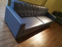 [8成新] 時尚拉扣2+2 四人座合成皮沙發多件沙發組有輕微破損