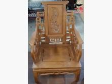 [8成新] 二手.柚木雕刻.單人木椅木製沙發有輕微破損