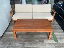 [9成新] 吉田二手傢俱❤詩肯柚木沙發茶几組木製沙發無破損有使用痕跡