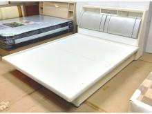 [9成新] 九成新白色5尺雙人床台 桃區免運雙人床架無破損有使用痕跡