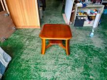 合運二手傢俱~實木四方桌邊几茶几有輕微破損