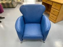 [全新] EA814AF*新藍色單人座沙發單人沙發全新