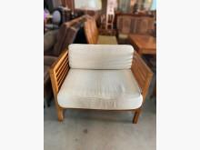 [9成新] 單人柚木沙發(含椅墊)木製沙發無破損有使用痕跡