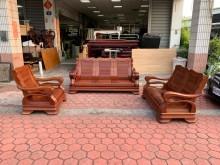 [9成新] 花梨木全實木粗骨1+2+3沙發組木製沙發無破損有使用痕跡