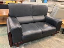[9成新] 租屋族最愛半牛皮雙人沙發組雙人沙發無破損有使用痕跡