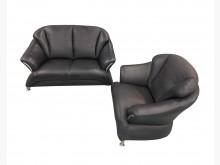 [9成新] A9146*黑色半牛皮1+2沙發多件沙發組無破損有使用痕跡