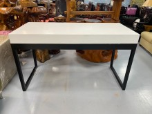 [9成新] E90111*黑白高腳桌書桌/椅無破損有使用痕跡