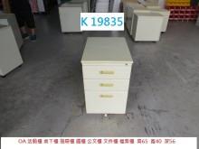 [8成新] K19835 活動櫃 桌下櫃辦公櫥櫃有輕微破損