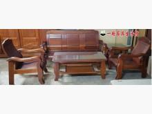 [8成新] 二手.客廳實木桌椅五件組木製沙發有輕微破損