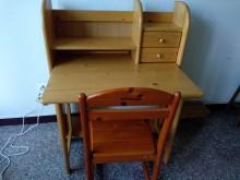 [9成新] 實木元方書桌椅書桌/椅無破損有使用痕跡