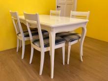 [9成新] 溫馨鄉村風家具求售餐桌椅組無破損有使用痕跡