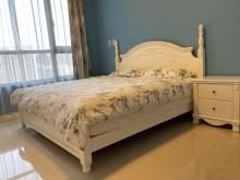 [9成新] 溫馨鄉村風家具求售 (僅床墊)雙人床墊無破損有使用痕跡