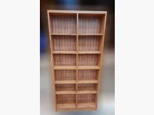 [8成新] 柚木色開放式書櫃書櫃/書架有輕微破損
