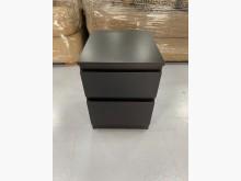[9成新] B90512*黑色二抽床邊櫃床頭櫃無破損有使用痕跡