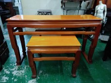 [9成新] 台灣檜木7尺神桌(上桌+八仙桌)桌子無破損有使用痕跡