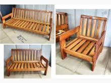[7成新及以下] 二手1+2+3木椅組 桃園區免運木製沙發有明顯破損