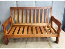 [7成新及以下] 二手二人座實木椅 桃園區免運費木製沙發有明顯破損