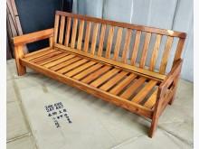 [7成新及以下] 二手三人座實木椅 桃園區免運費木製沙發有明顯破損