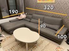 [9成新] 四人座L型沙發,尺寸皆有加長L型沙發無破損有使用痕跡