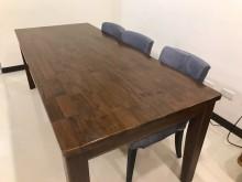 [8成新] 8成新 實木餐桌 工作桌 會議桌餐桌有輕微破損