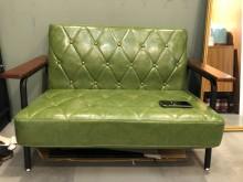 [8成新] 超好坐工業復古質感皮革雙人沙發雙人沙發有輕微破損
