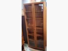 [7成新及以下] 二手.80公分.玻璃書櫃.收納櫃書櫃/書架有明顯破損
