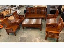 [9成新] 檀木實木沙發九件組木製沙發無破損有使用痕跡