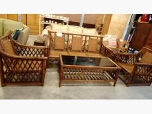 [9成新] 大台北二手傢俱-藤椅沙發組籐製沙發無破損有使用痕跡