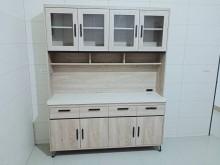 [95成新] 庫存品5.3尺灰橡色大理石餐櫃上碗盤櫥櫃近乎全新
