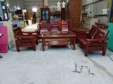 [95成新] 全實木1+2+3沙發+大小茶几組木製沙發近乎全新