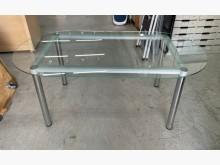 玻璃餐桌/會議桌/長桌/置物桌餐桌近乎全新