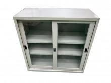[9成新] C10212*3尺玻璃門鐵櫃辦公櫥櫃無破損有使用痕跡